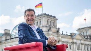 El líder de la CSU, Markus Söder, durante una entrevista en Berlín.