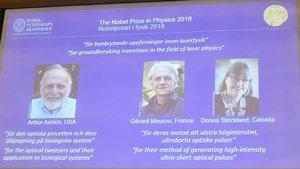 Los galardonados con el Nobel de Física.