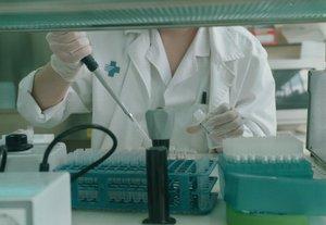 Un laboratorio de VIH de Can Ruti de Badalona.