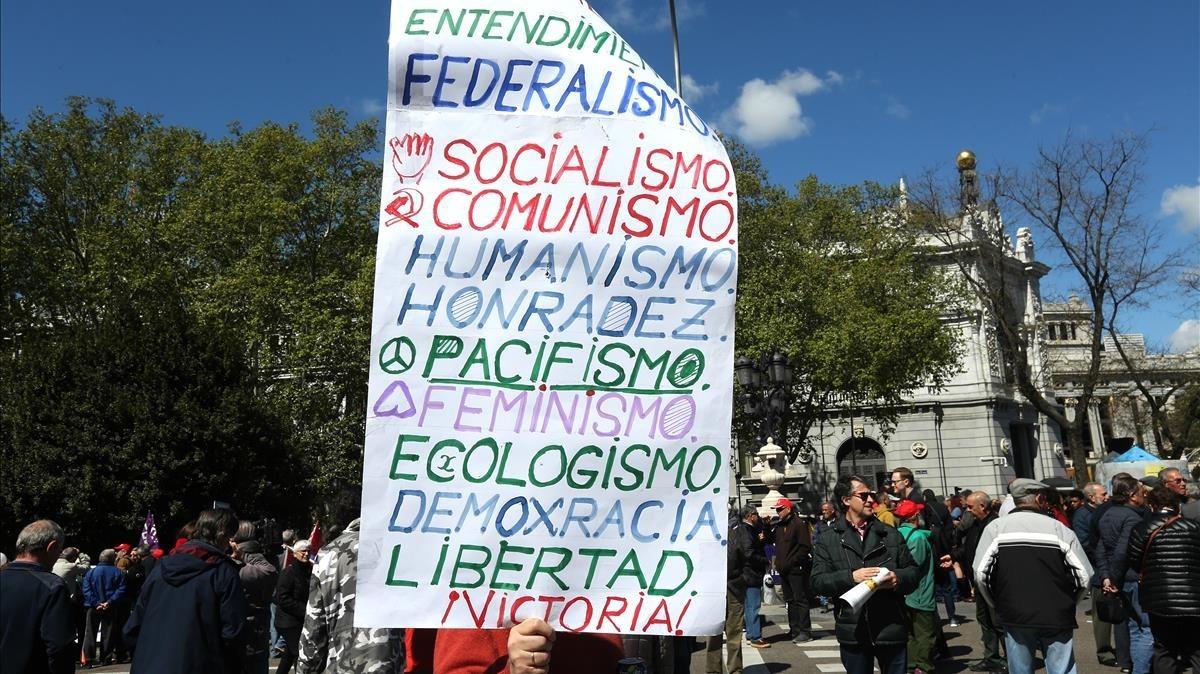 Manifestación del 1 de Mayo, en Madrid.