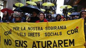 Manifestación de los CDR en Barcelona.