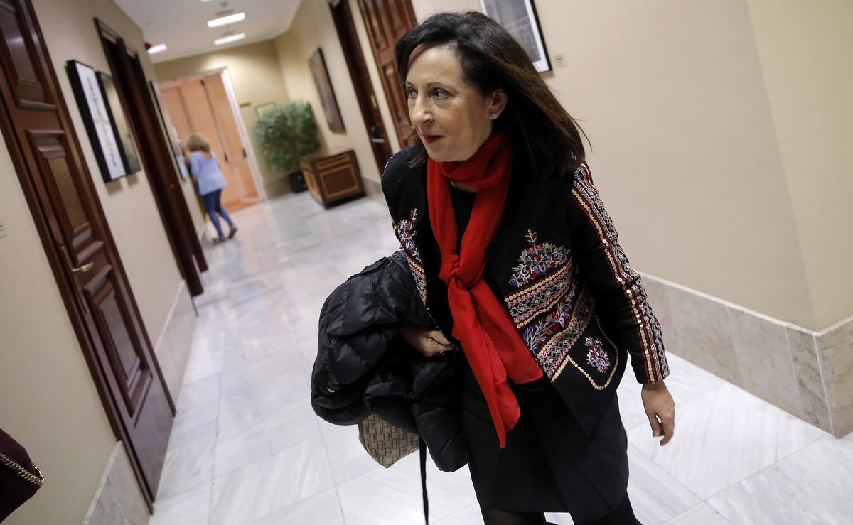 Margarita Robles, en los pasillos del Congreso, el pasado octubre.