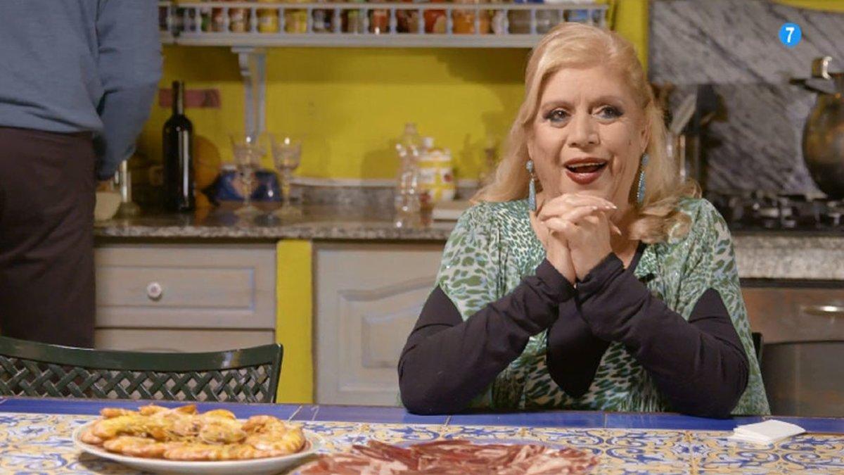 María Jiménez con Bertín Osborne en 'Mi casa es la tuya'.