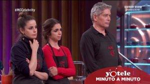Marta Torné y Elena Furiase junto a Boris Izaguirre en 'Masterchef Celebrity'.