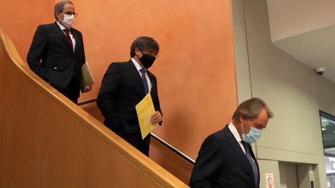 Mas, Torra y Puigdemont denuncian en Perpinyà la actitud del Estado ante el independentismo.