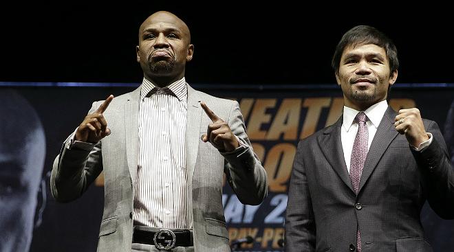 Pacquiao contra Mayweather, el boxeo vestido de dólares