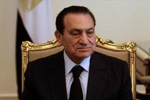 Mubarak, en el palacio presidencial de El Cairo en el 2011.