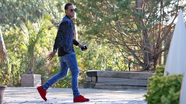 Neymar, en el restaurante de Gavà.