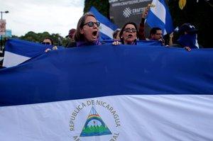 Protestas contre el gobierno de Nicaragua.