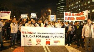 Els treballadors de Nissan es manifestaran davant del Mobile