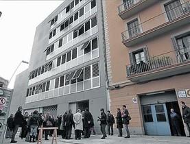 Nuevos bloques. Una de las viviendas de alquiler social, en Barcelona.