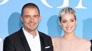 Orlando Bloom y su prometida, la cantante Katy Perry, el pasado mes de septiembre.