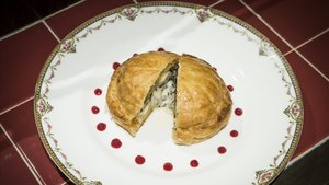 'Pithiviers' de patata y queso comté, una receta de Eric Basset (Bistrot Bilou).