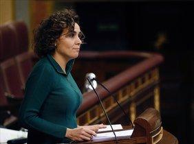 La portavoz del PP en el Congreso, Dolors Montserrat. en el Pleno de este martes