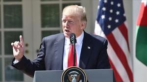 El presidente de Estados Unidos, Donald Trump, durante una rueda de prensa.