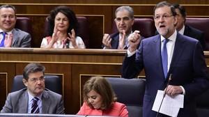 Rajoy, hoy, en el Congreso.
