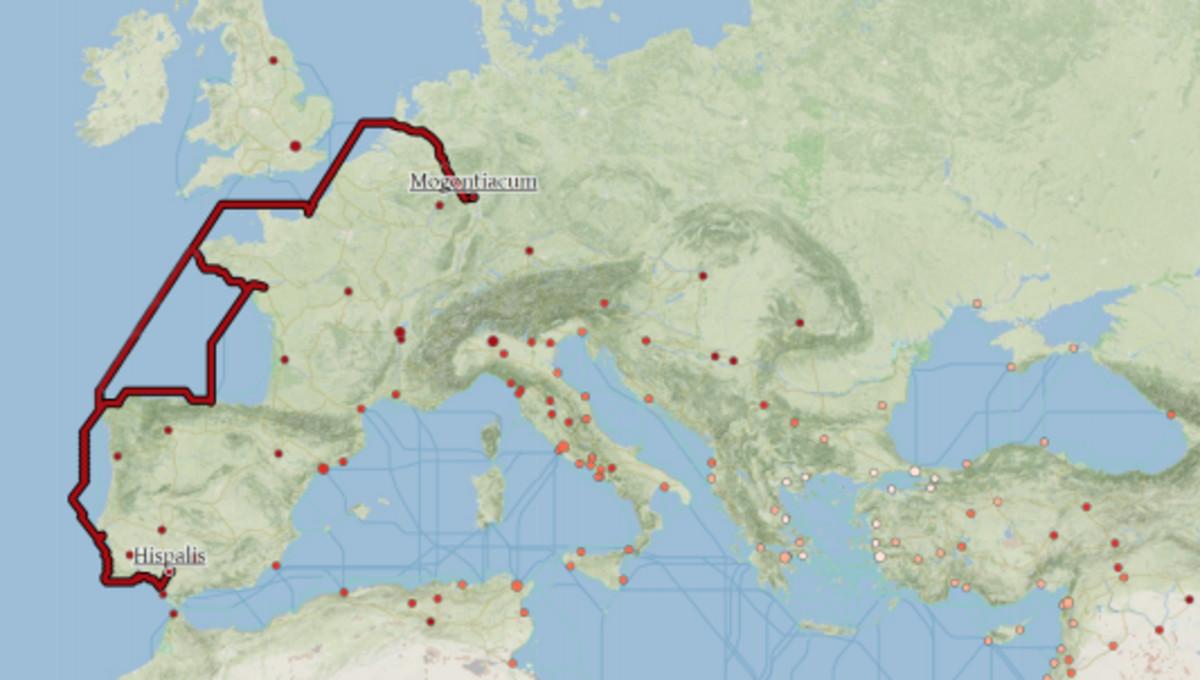 La ruta del vino y el aceite de la Bética de Gades a Maguncia.