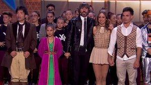 Santi Millán con algunos de finalistas de 'Got Talent'.