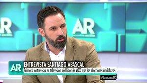 Santiago Abascal en una anterior intervención en El programa de Ana Rosa.