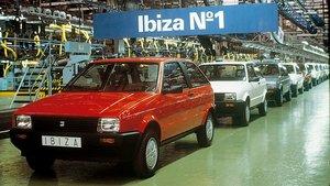 El primer Seat Ibiza de 1984.