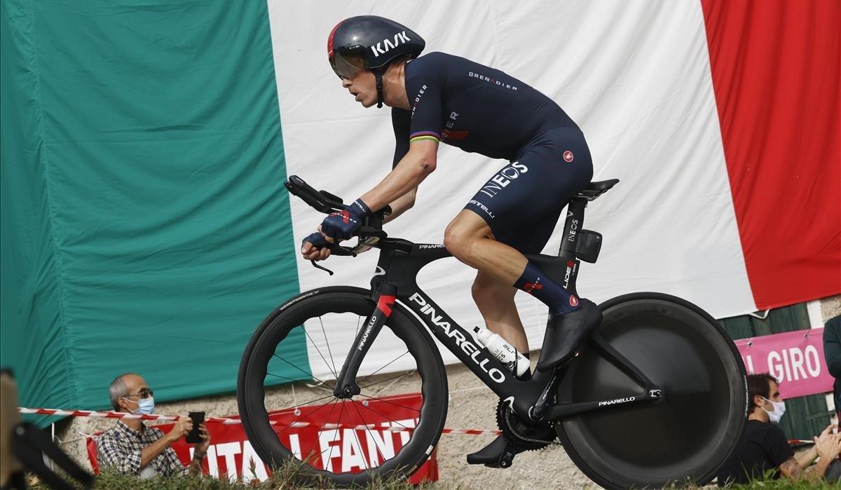El excampeón del mundo Rohan Dennis, en la contrarreloj del Giro.