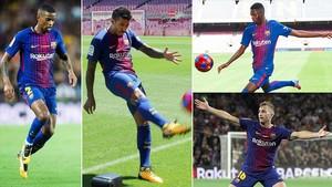 Semedo, Paulinho, Dembélé y Deulofeu, los cuatro fichajes del Barça 17-18.