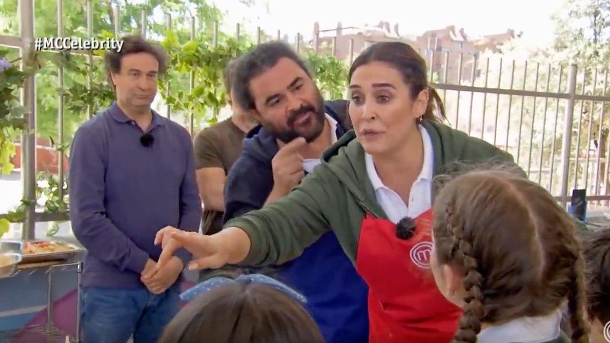 El Sevilla y Vicky Martín Berrocal en 'Masterchef Celebrity'.