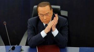 Silvio Berlusconi, en el debate en el Parlamento Europeo sobre el 'brexit' el pasado 18 de septiembre.