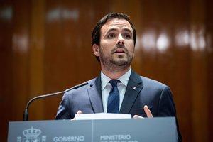 GRAF9079. MADRID, 12/02/2020.- El ministro de Consumo, Alberto Garzón, preside el acto de toma de posesión de los altos cargos de Consumo, este miércoles en Madrid. EFE/Luca Piergiovanni