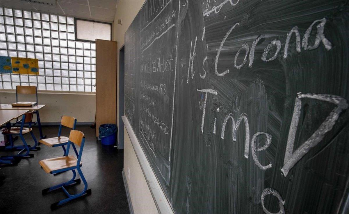Una escuela vacía de Fráncfort.