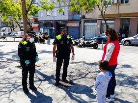 Una patrulla de la Guardia Urbana de L'Hospitalet de Llobregat.