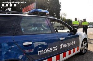 Una patrulla de los Mossos.
