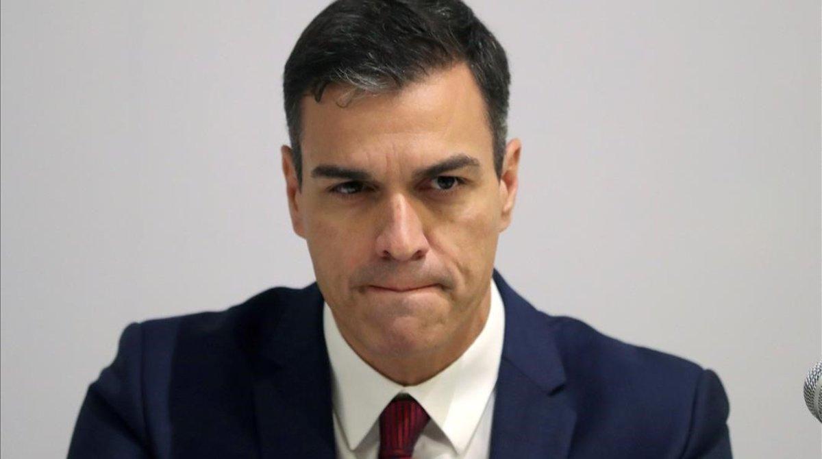 El presidente del Gobierno, Pedro Sánchez, durante su visita a Cuba.