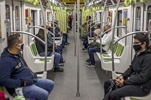 06/09/2020 Vagón del metro de Buenos Aires