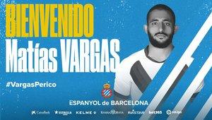 Matías Vargas, nuevo jugador del Espanyol.