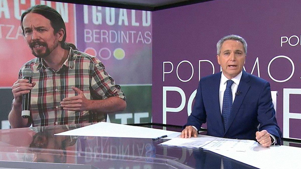 Vicente Vallés lanza un nuevo dardo a Pablo Iglesias