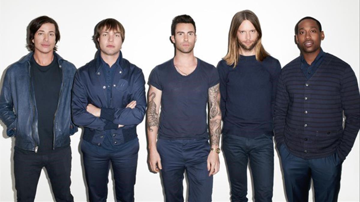 Los componentes del grupo musical Maroon 5.