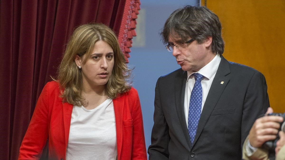 Pascal y Puigdemont, en el 2017, antes de su ruptura.