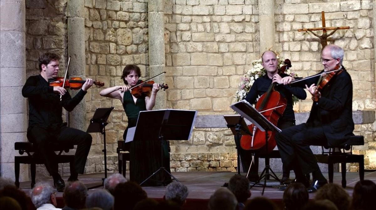 El Quartet Casals, en la Canònica de Santa Maria de Vilabertran.