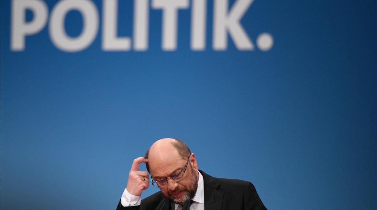 El líder del SPD, Martin Schulz, el pasado 21 de enero.