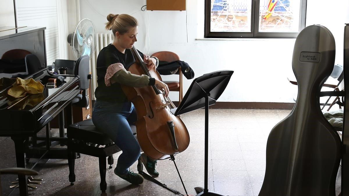 Estudiante del conservatorio público de Barcelona, el sueño de muchos de los alumnos de las escuelas de música.