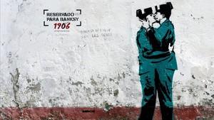 La obra que podría corresponder a Banksy.