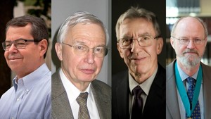 Stephen L. Buchwald (ganador del premio BBVA Fronteras del Conocimiento), Jean-Marie Lehn (Nobel de Química 1987), Jean-Pierre Sauvage (Nobel de Química 2016) y Robert H. Grubbs (Premio Nobel de Química en 2005)
