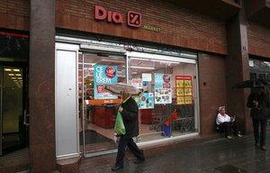 Una imagen de archivo de un supermercado del grupo Dia, en Barcelona.
