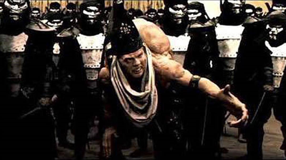 El traidor Efialtes, según la versión cinematográfica inspirada en la mirada de Frank Miller.
