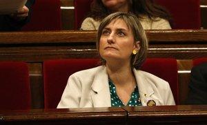 La 'consellera' de Salut, Alba Vergés, este miércoles en el Parlament.