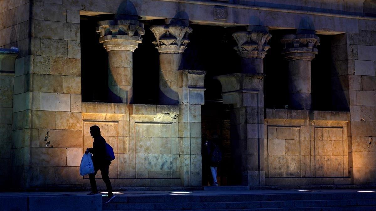 El Templo de Debod, en Madrid, la semana pasada.