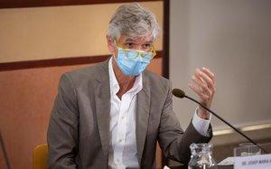 Josep Maria Argimon, en una presentación de datos ante la prensa.