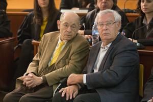 Fèlix Millet y Jordi Montull, durante el juicio del hotel del Palau, el pasado abril