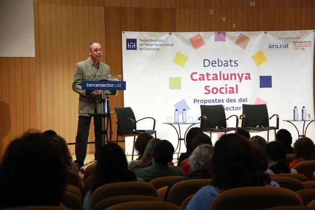Marc Cadafalch, autor del estudio sobre los cuidadores familiares, este martes.